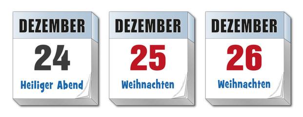 Weihnachtstage Kalender