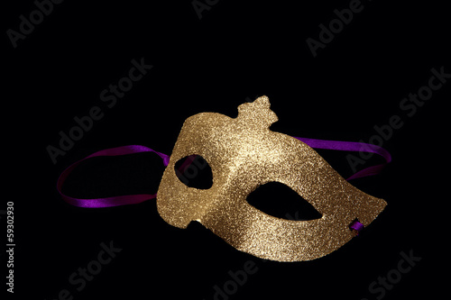 Carnaval golden mask