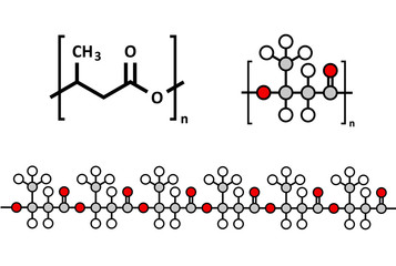 Polyhydroxybutyrate (PHB) biodegradable plastic