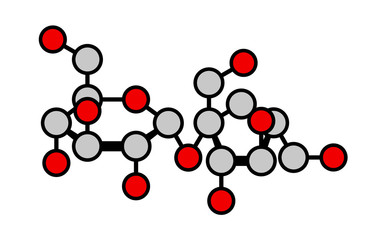 Sucrose (table sugar, saccharose) molecule.