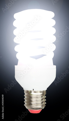 Energy saving fluorescent lightbulb