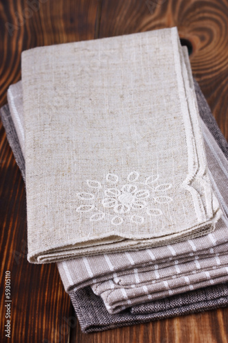 Table napkins.