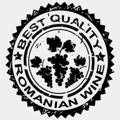 Grunge stamp, quality label for Romanian wine