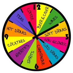 Clock with bar menu