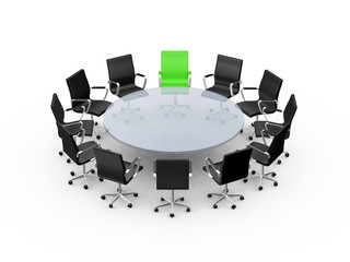 Conference Table with Leadership