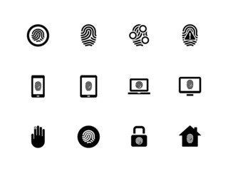 Fingerprint icons on white background.