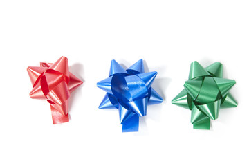 Top view of decorative bows.