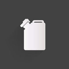Fuel jerrycan icon