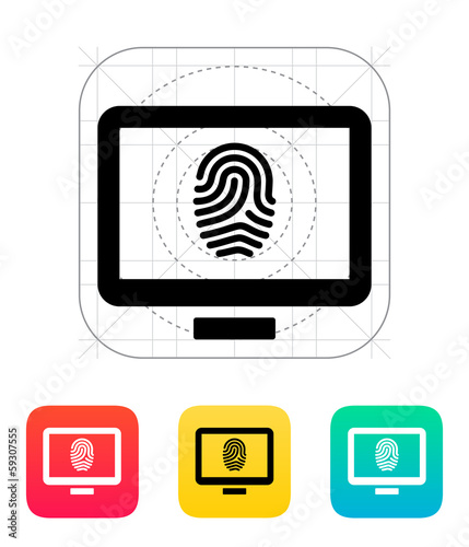 Desktop fingerprint icon.