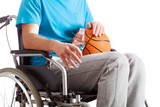 Sportsman on wheelchair