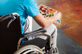 Painter in a wheelchair