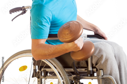Physical activity of disabled person