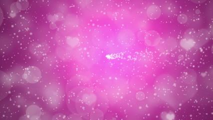 ピンクの背景に星の回転