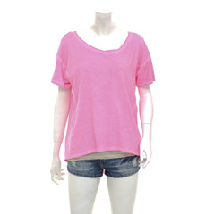 female mannequin in trousers, jeans shorts and pink shirt