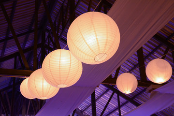 lamps and paper lanterns decoration