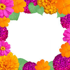 Mixed colorful flower frame for your picture and card.