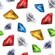 Gems seamless background, vector
