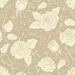 Seamless roses pattern.