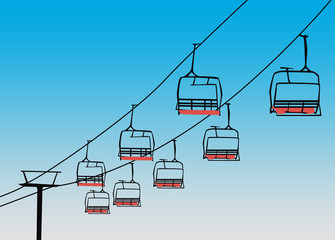 Chairlift winter sport background