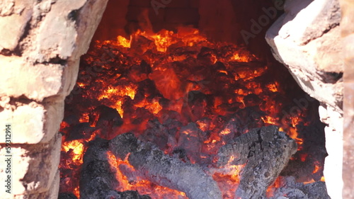 Adobe Brick Oven Inside Dolly