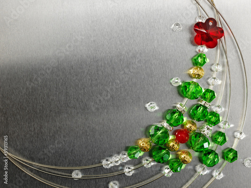 Christmas tree from color beads