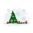 Christmas tree with gifts for your design