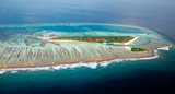 Full view of typical Maldivian island