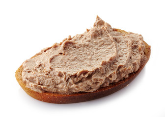 bread with liver pate
