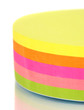 Stack of colorful Sticky Notes isolated on white