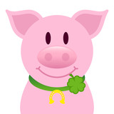Pig With Cloverleaf