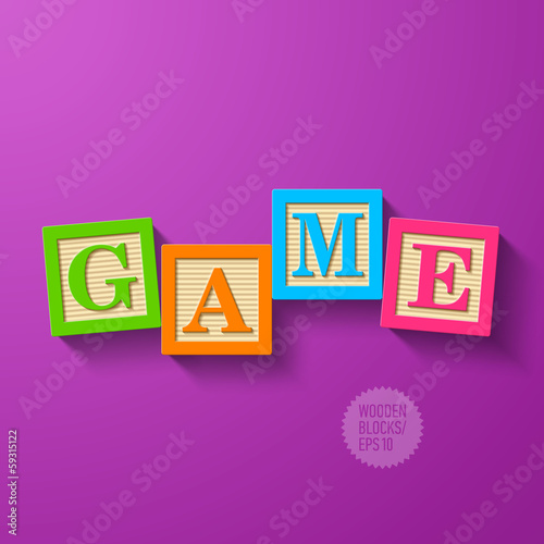 Game - wooden blocks