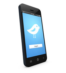 smartphone tweet login