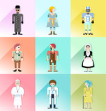 people avatar vector set 1