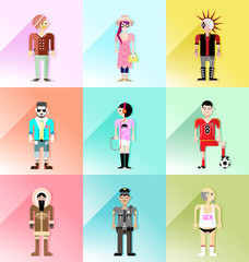 people avatar vector set 3