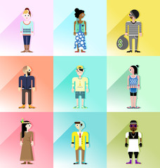 people avatar vector set 2