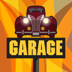 Vintage Garage sign, vector illustration
