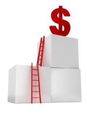 Ladders to Reach Dollar Symbol
