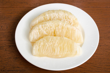 Thai pomelo fruit Peeled