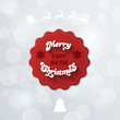 Merry Christmas & New Year Red Vintage Label Logo design