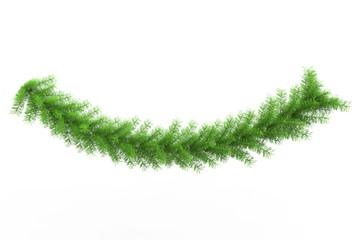 Bright Green Pine Tree Twig
