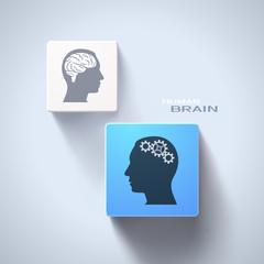 Human brain concept. Eps10 vector