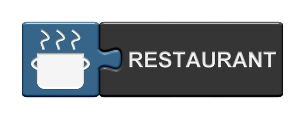 Puzzle-Button blau grau: Restaurant