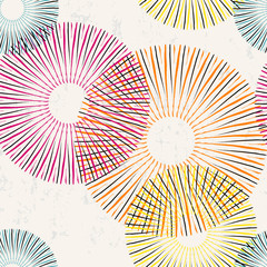 seamless pattern background, with circles and strokes, grungy
