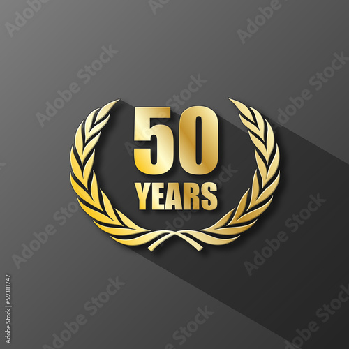 50 YEARS ANNIVERSARY Icon (years wreath prize birthday)