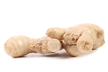 Close up of fresh ginger root.