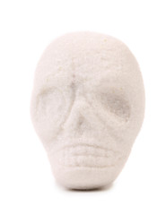 Piece sugar in form of skull.