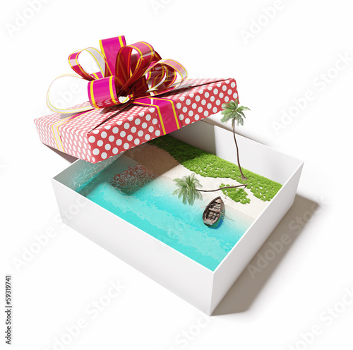 island in the gift box