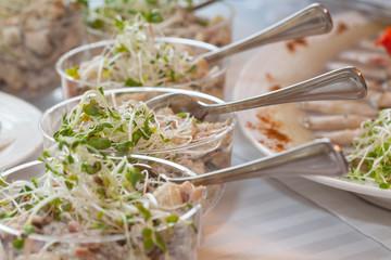 Salads closeup