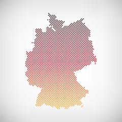 Karte Deutschland Flagge