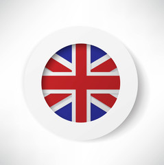 britain flag button